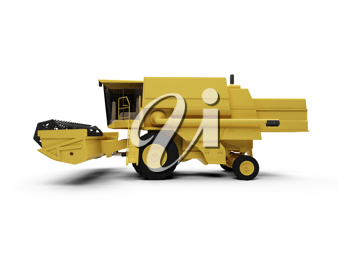 Royalty Free Clipart Image of a Combine Harvester
