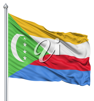 Royalty Free Clipart Image of the Flag of Comoros