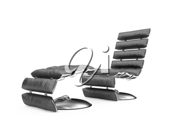 Royalty Free Clipart Image of a Chair and Stool