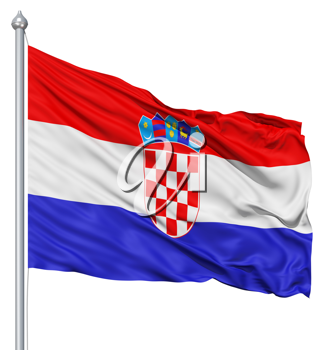Royalty Free Clipart Image of the Flag of Croatia