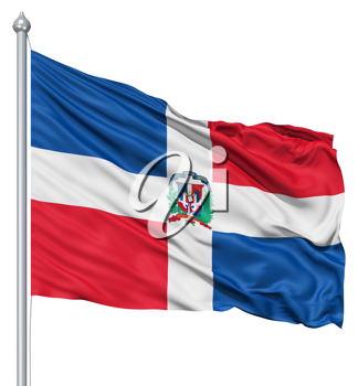Royalty Free Clipart Image of the Flag of the Dominican Republic