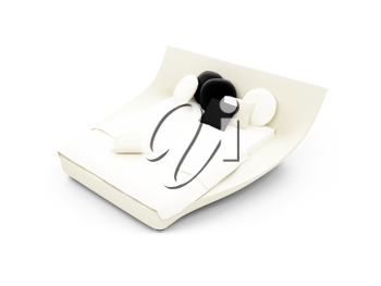 Royalty Free Clipart Image of a Bed