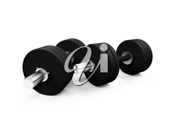 Royalty Free Clipart Image of Dumbbells
