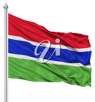 Royalty Free Clipart Image of the Flag of Gambia