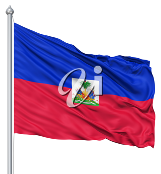 Royalty Free Clipart Image of the Flag of Haiti