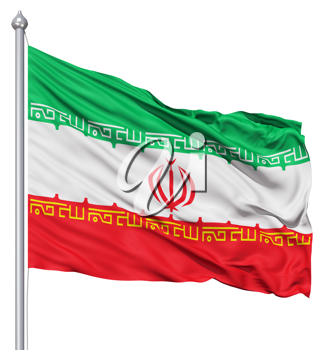 Royalty Free Clipart Image of the Flag of Iran
