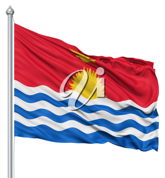 Royalty Free Clipart Image of the Flag of Kiribati