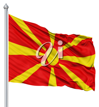 Royalty Free Clipart Image of the Flag of Macedonia