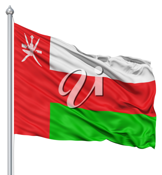 Royalty Free Clipart Image of the Flag of Oman