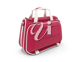 Royalty Free Clipart Image of a Red Handbag