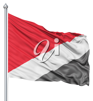 Royalty Free Clipart Image of the Flag of Sealand