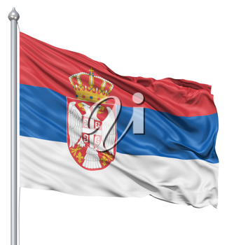 Royalty Free Clipart Image of the Flag of Serbia