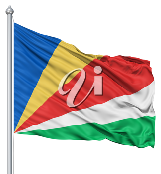 Royalty Free Clipart Image of a Flag of Seychelles