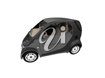 Royalty Free Clipart Image of a Smart Car