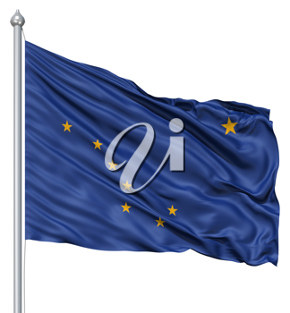 Royalty Free Clipart Image of the Flag of Alaska