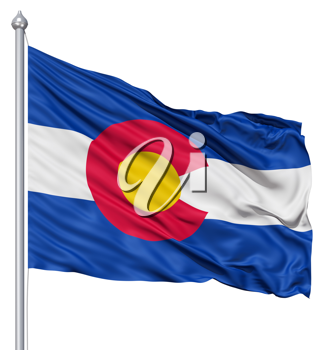 Royalty Free Clipart Image of the Flag of Colorado