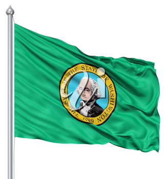 Royalty Free Clipart Image of the Washington Flag