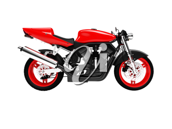 Royalty Free Clipart Image of a Motorcycle