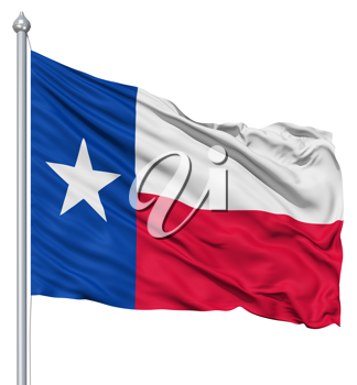 Royalty Free Clipart Image of the Flag of Texas