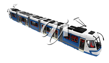 Royalty Free Clipart Image of a Tramway
