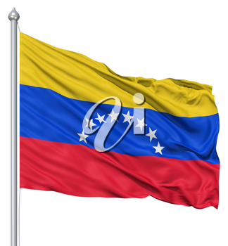 Royalty Free Clipart Image of the Flag of Venezuela