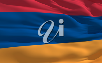Royalty Free Clipart Image of the Flag of Armenia