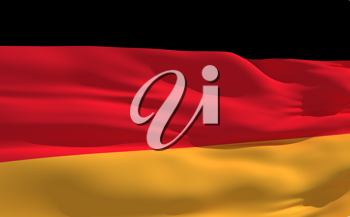 Royalty Free Clipart Image of the Flag of Germany