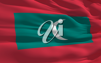 Royalty Free Clipart Image of the Flag of the Maldives