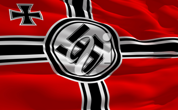 Royalty Free Clipart Image of a Nazi Flag