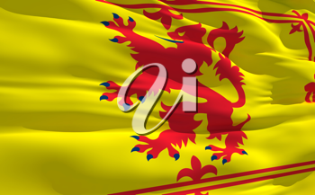 Royalty Free Clipart Image of the Flag of Scotland