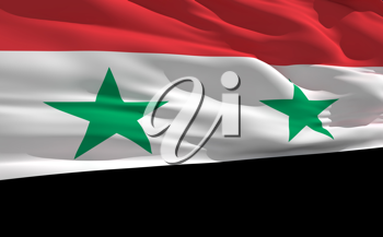 Royalty Free Clipart Image of the Flag of Syria