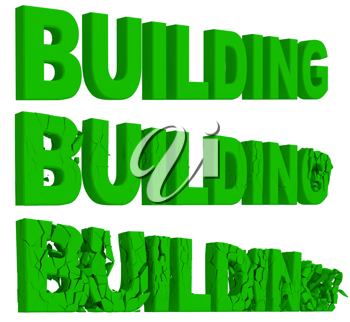 Royalty Free Clipart Image of the Words Building