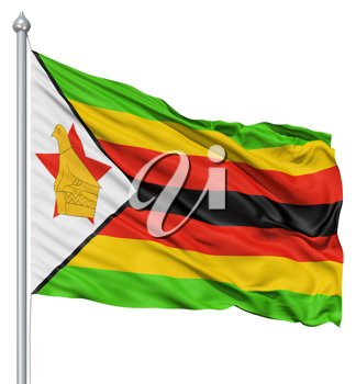 Royalty Free Clipart Image of a Flag of Zimbabwe