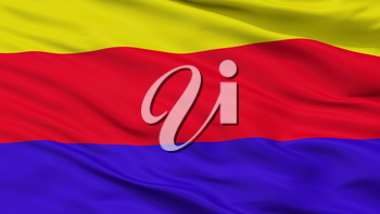 Curuzu Cuatia City Flag, Country Argentina, Corrientes Province, Closeup View, 3D Rendering