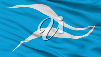 Neuquen City Flag, Country Argentina, Closeup View, 3D Rendering