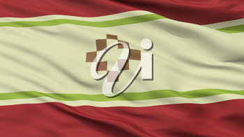 San Fernando Del Valle De Catamarca City Flag, Country Argentina, Closeup View, 3D Rendering
