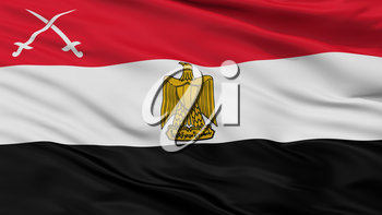 Army Of Egypt Flag, Closeup View, 3D Rendering