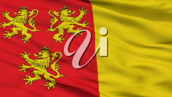 Chievres City Flag, Country Belgium, Closeup View, 3D Rendering