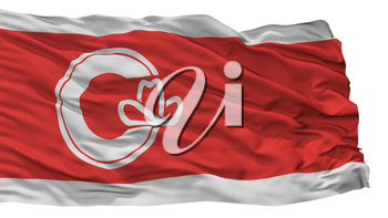 Calgary City Flag, Country Canada, Alberta Province, Isolated On White Background, 3D Rendering