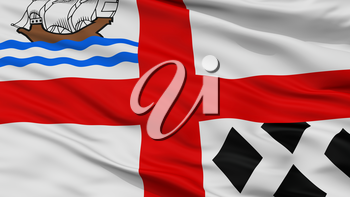 Nanaimo City Flag, Country Canada, Closeup View, 3D Rendering