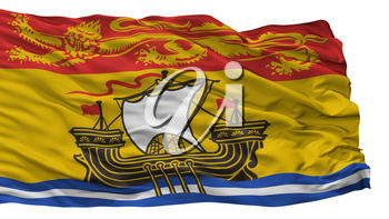 New Brunswick City Flag, Country Canada, Isolated On White Background, 3D Rendering