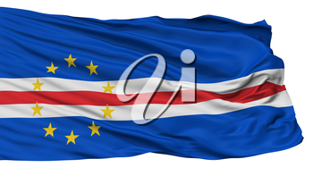 Cape Verde Flag, Isolated On White Background, 3D Rendering