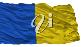 Saint Gilles Lez Bruxelles City Flag, Country Belgium, Isolated On White Background, 3D Rendering