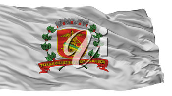 Santos City Flag, Country Brasil, Isolated On White Background, 3D Rendering