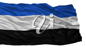 Cicuco City Flag, Country Colombia, Bolivar Department, Isolated On White Background, 3D Rendering