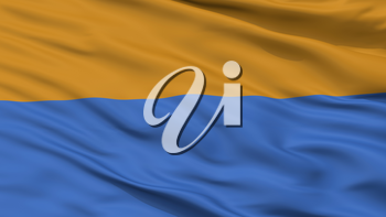 Carrefour City Flag, Country Haiti, Closeup View, 3D Rendering