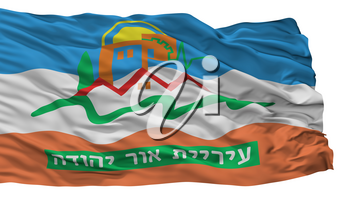 Or Yehuda City Flag, Country Israel, Isolated On White Background, 3D Rendering