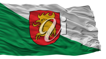 Madona City Flag, Country Latvia, Isolated On White Background, 3D Rendering