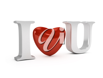 Royalty Free Clipart Image of the Words I Love You