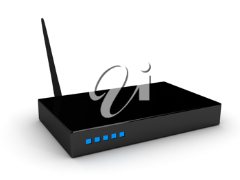Royalty Free Clipart Image of a WiFi Router